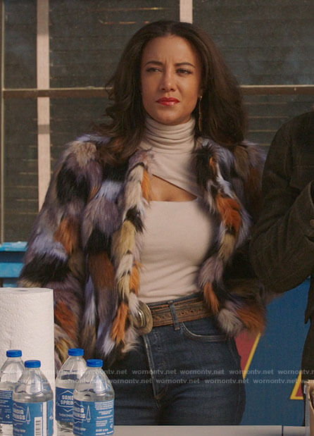 Maria's fur jacket on Roswell New Mexico