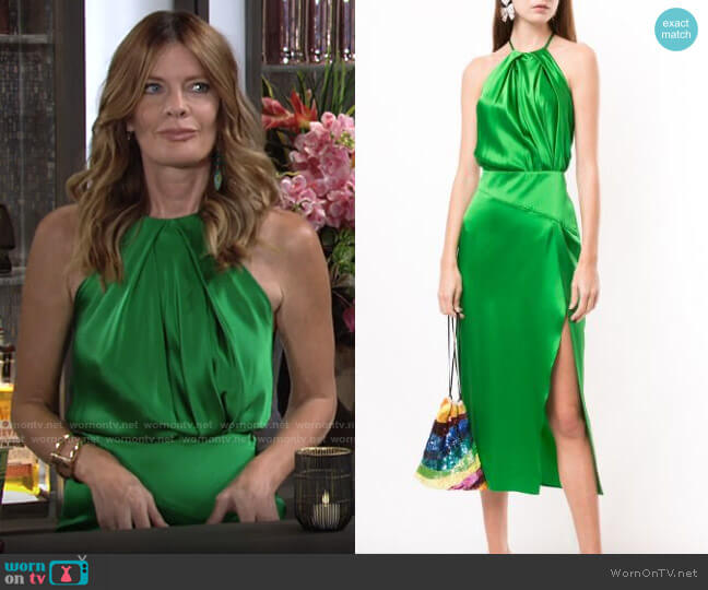 Michelle Mason Sleeveless Halterneck Dress worn by Phyllis Summers (Michelle Stafford) on The Young & the Restless