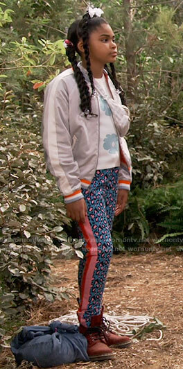 Millicent's embroidered bomber jacket on iCarly