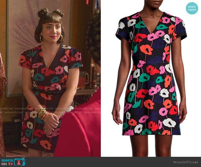 Atalie Poppy Print Sheath Dress by Milly