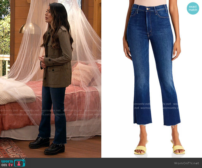 Mother The Hustler Ankle Fray Jeans in Home Movie worn by Carly Shay (Miranda Cosgrove) on iCarly