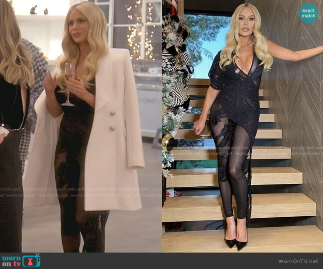 Dorits Cat Suit by Nektaria x Dorit worn by Dorit Kemsley  on The Real Housewives of Beverly Hills