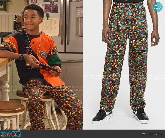 Reissue Woven Pants by Nike worn by Shaka McKellan (Isaiah Russell-Bailey) on Family Reunion