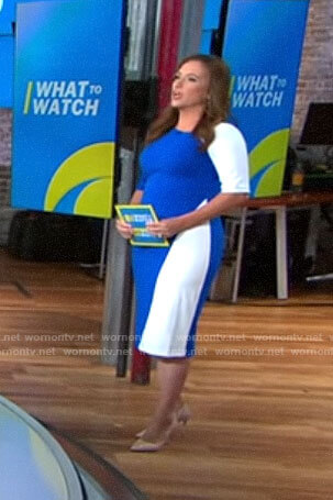 Nikki Battiste's blue and white dress on CBS This Morning