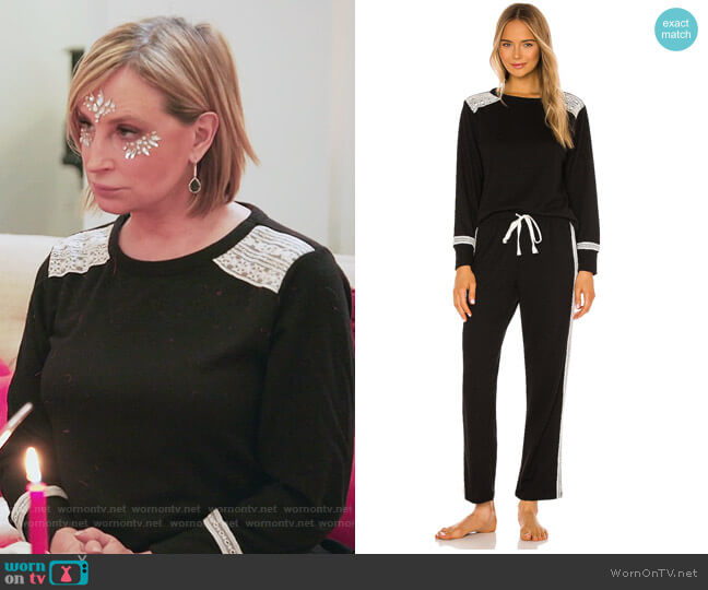 Charlie PJ Set by Flora Nikrooz worn by Sonja Morgan  on The Real Housewives of New York City