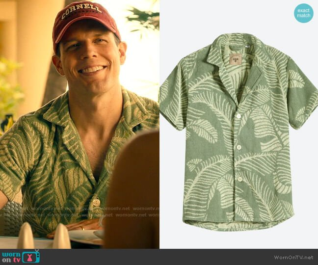 OAS Banana Leaf Terry Shirt worn by Shane Patton (Jake Lacy) on The White Lotus