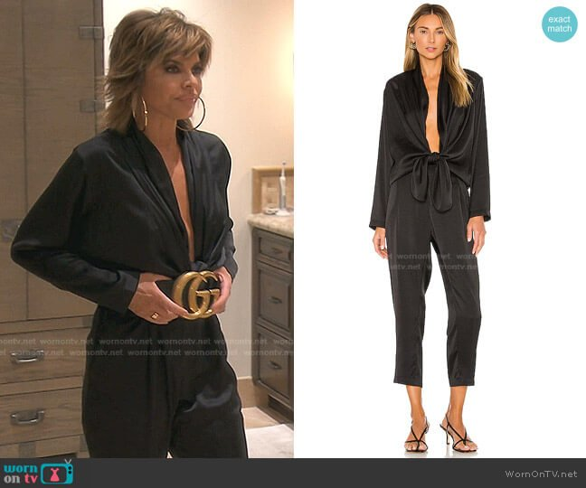 Stina Jumpsuit by Overlover worn by Lisa Rinna  on The Real Housewives of Beverly Hills