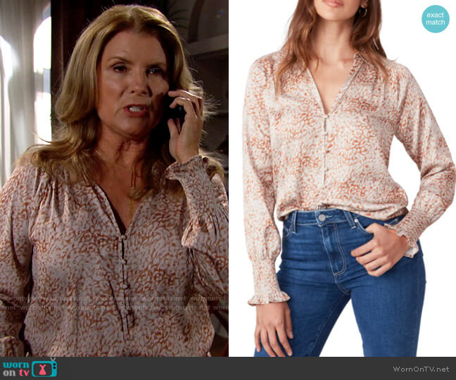 Paige Sayven Blouse worn by Sheila Carter (Kimberlin Brown) on The Bold & the Beautiful