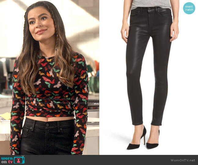 Paige Hoxton Coated Jeans worn by Carly Shay (Miranda Cosgrove) on iCarly