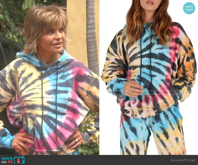 Tie Dye Hoodie by Pam & Gela worn by Lisa Rinna  on The Real Housewives of Beverly Hills