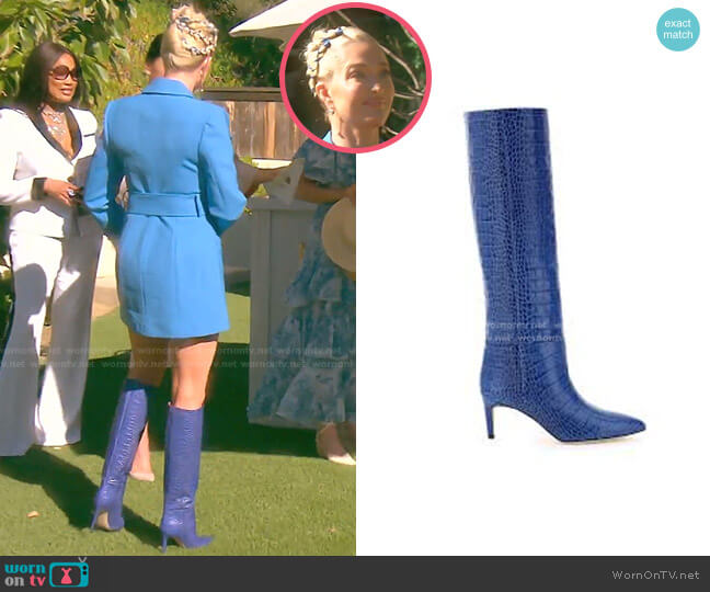 Crocodile-Effect Boots by Paris Texas worn by Erika Jayne  on The Real Housewives of Beverly Hills