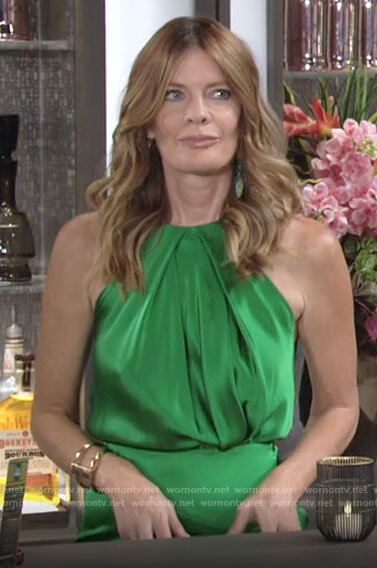Phyllis's green satin dress on The Young and the Restless