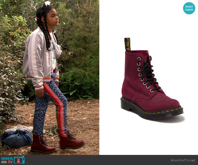 Dr Martens 1460 Pascal Stingray Textured Leather Boot worn by Millicent (Jaidyn Triplett) on iCarly