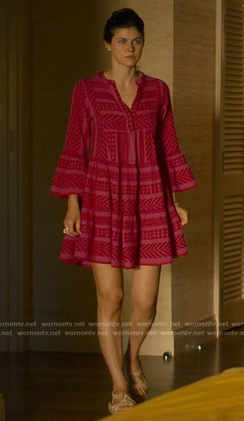 Rachel's pink dress on The White Lotus