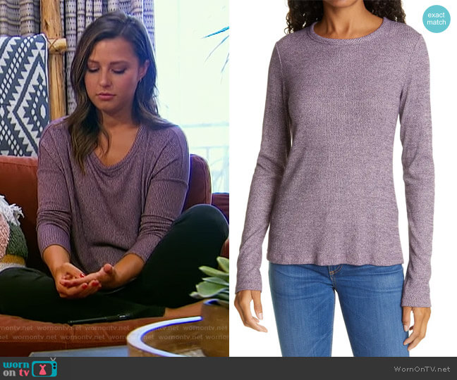The Knit Long Sleeve Top by Rag and Bone worn by Katie Thurston  on The Bachelorette