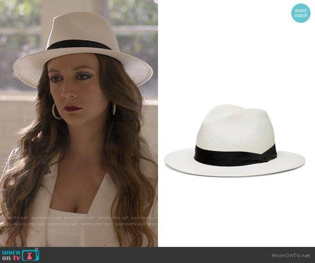 Rag & Bone Panama Hat worn by Liv Whitley (Billie Lourd) on American Horror Stories