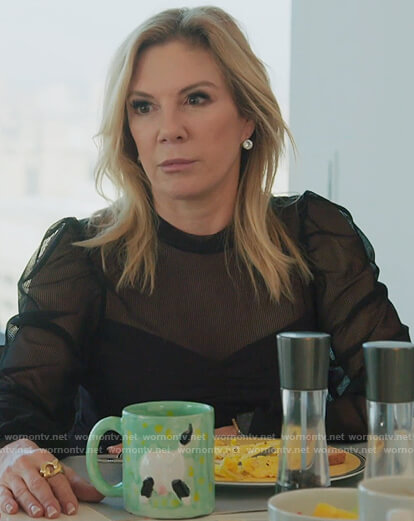 Ramona's black mesh top on The Real Housewives of New York City