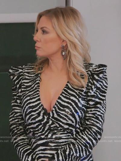 Ramona's metallic zebra stripe dress on The Real Housewives of New York City