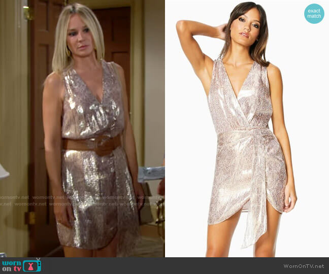 Ramy Brook Gabriela Dress worn by Sharon Collins (Sharon Case) on The Young & the Restless