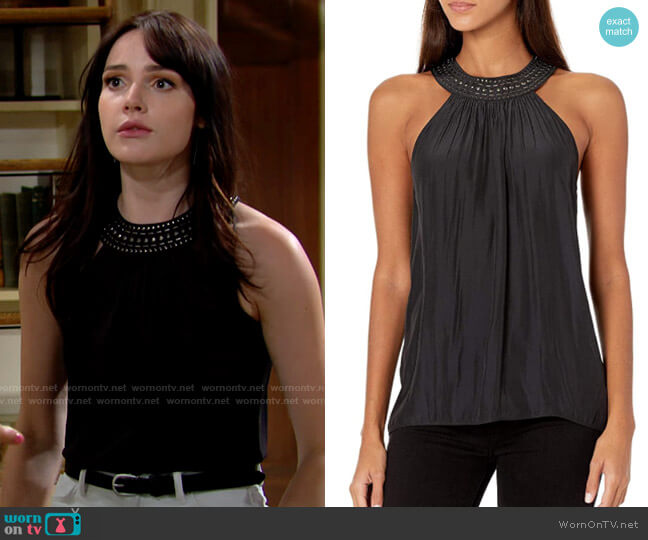 Ramy Brook Heather Top worn by Tessa Porter (Cait Fairbanks) on The Young & the Restless