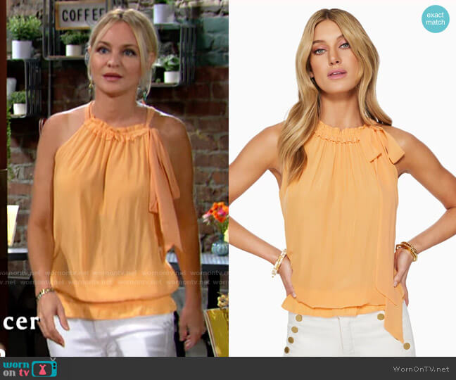 Ramy Brook Serafina Top worn by Sharon Collins (Sharon Case) on The Young & the Restless