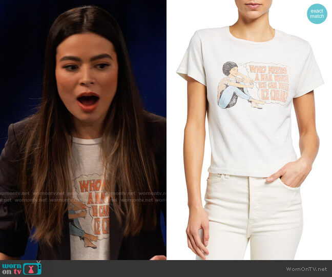 Re/Done Classic Crewneck Graphic Tee worn by Carly Shay (Miranda Cosgrove) on iCarly