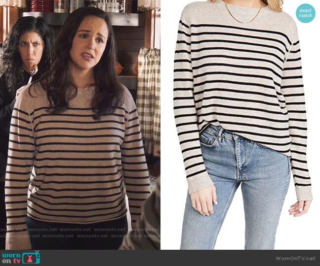 Cashmere Boyfriend Sweater by Reformation worn by Amy Santiago (Melissa Fumero) on Brooklyn Nine-Nine