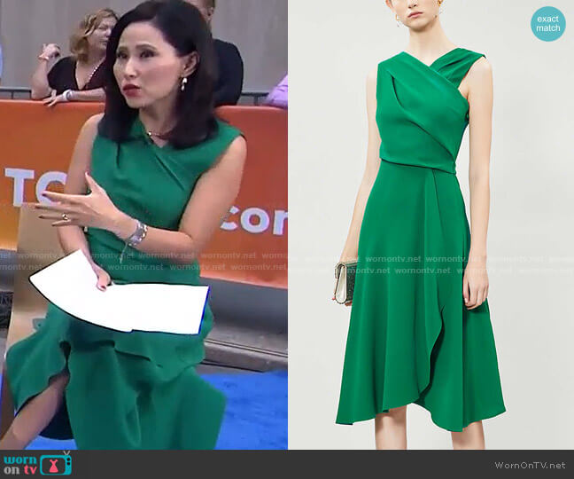 Marling Crepe Midi Dress by Reiss worn by Vicky Nguyen  on Today