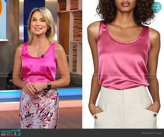 Remey Tank Top by Reiss worn by Amy Robach  on Good Morning America