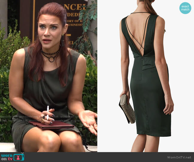 Reiss Karina Dress worn by Sally Spectra (Courtney Hope) on The Young & the Restless