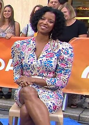 Renee Elise Goldsberry's floral ruched dress on Today
