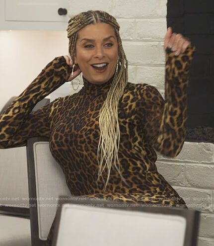 Robyn's leopard print turtleneck dress on The Real Housewives of Potomac