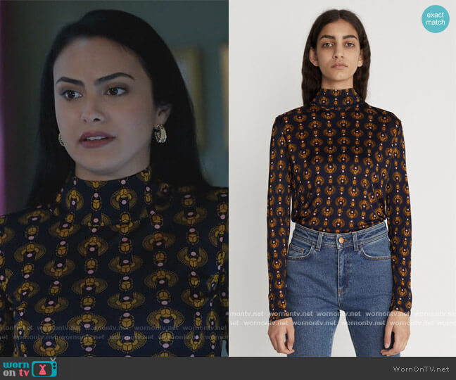 Gellert Top by Rodebjer worn by Veronica Lodge (Camila Mendes) on Riverdale