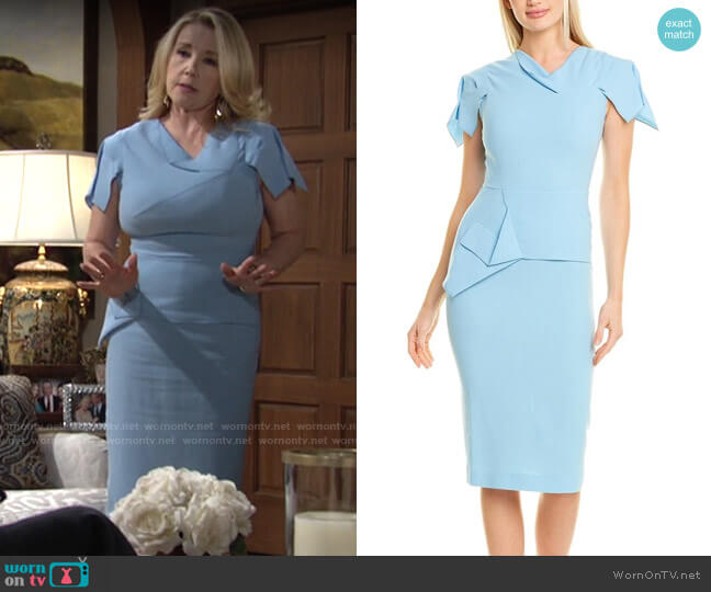 Roland Mouret Vernon Dress worn by Nikki Reed Newman (Melody Thomas-Scott) on The Young & the Restless