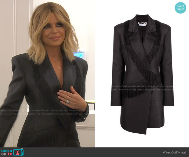 Shannon Fringed Blazer Dress by Rotate worn by Lisa Rinna  on The Real Housewives of Beverly Hills