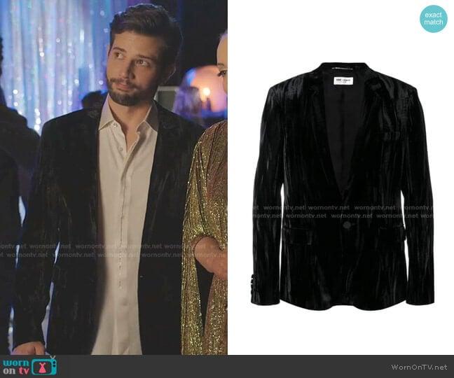 Tailored Suit Jacket by Saint Laurent worn by Sam Flores (Rafael de la Fuente) on Dynasty