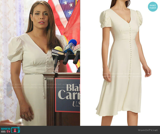 Margot Dress by Saloni worn by Cristal Jennings (Daniella Alonso) on Dynasty