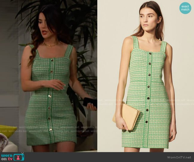 Sandro Lea Dress worn by Steffy Forrester (Jacqueline MacInnes Wood) on The Bold & the Beautiful