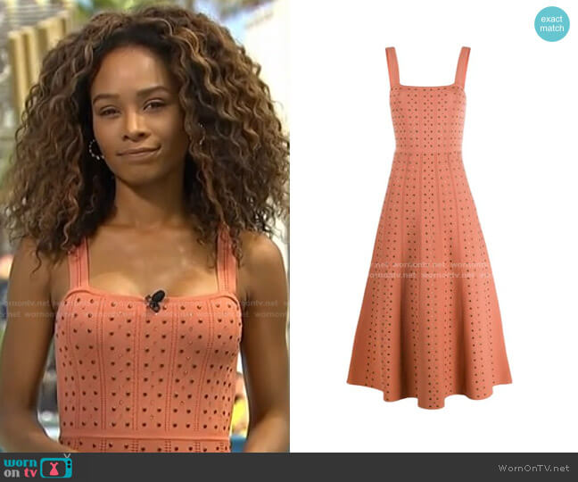 Studded Knit Dress by Sandro worn by Zuri Hall  on Access Hollywood