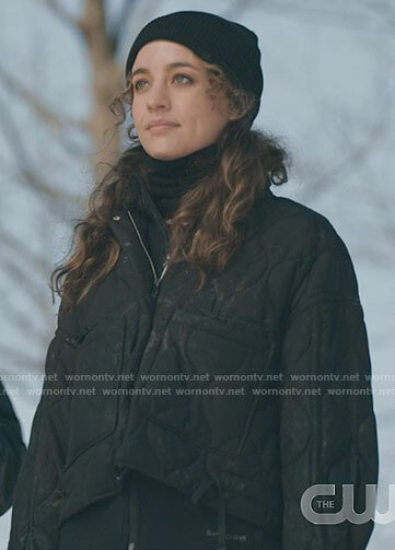 Sarah's black quilted jacket on The Republic of Sarah