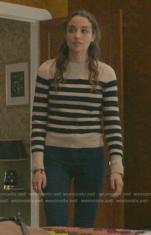 Sarah's striped sweater on The Republic of Sarah