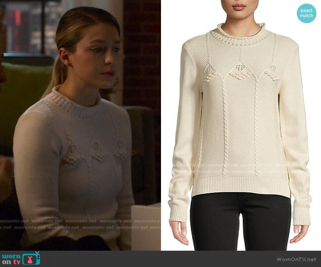 Sessun Moon River Long-Sleeve Sweater worn by Kara Danvers (Melissa Benoist) on Supergirl