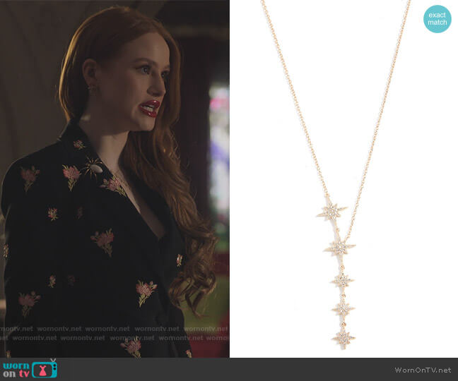 Starburst Lariat Necklace by Shashi worn by Cheryl Blossom (Madelaine Petsch) on Riverdale