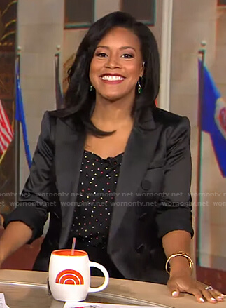 Sheinelle's black double breasted blazer on Today