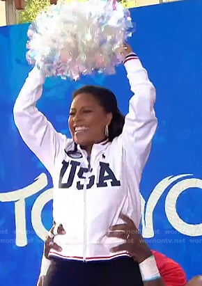 Sheinelle's white USA track jacket on Today