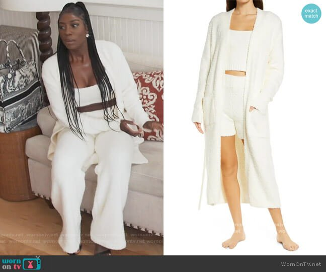 Cozy Knit Boucle Robe by Skims worn by Wendy Osefo  on The Real Housewives of Potomac