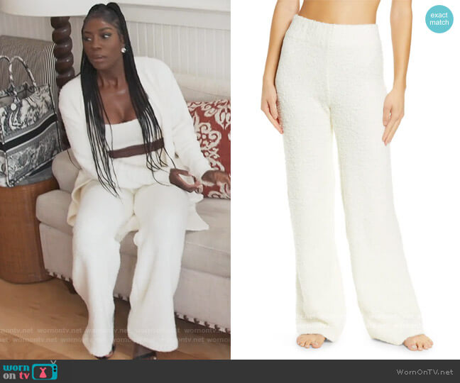 Cozy Knit Pants by Skims worn by Wendy Osefo  on The Real Housewives of Potomac