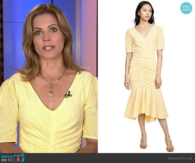 Panier Dress by Staud worn by Natalie Morales  on Today