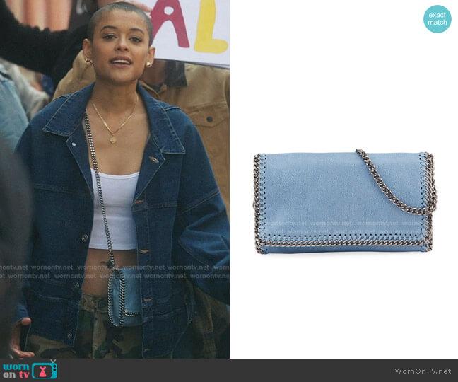 Falabella Crossbody Bag by Stella McCartney worn by Julien Calloway (Jordan Alexander) on Gossip Girl