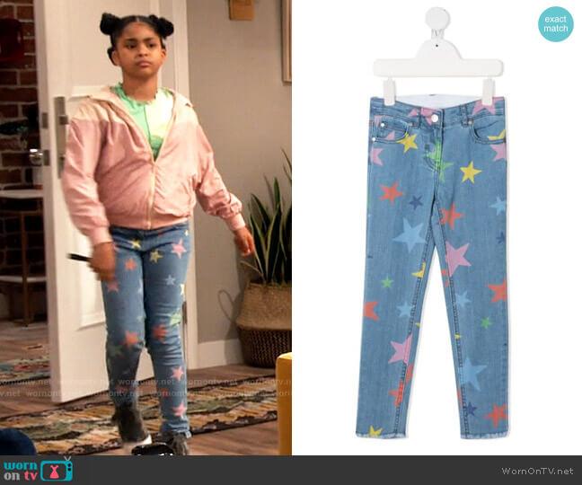 Stella McCartney Star Print Skinny Jeans worn by Millicent (Jaidyn Triplett) on iCarly